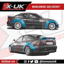 widebody lexus is300 toyota altezza lexus is300 is200 sxe10 widebody kit