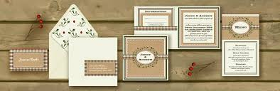 Christmas Wedding Invitations Knots And Kisses Wedding Stationery Rustic Vintage Christmas