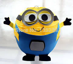 minion baby shower decorations aliexpress buy 8 minion inspired yellow paper lantern with