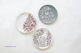 Wall Decor Luxury Red Decorative Plates Wall Red Decorative
