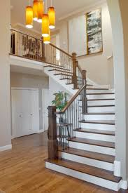 Stair Cases Foxy Staircases In Houses Featuring Dark Brown Stained Wooden