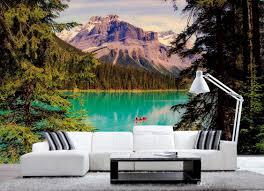 3d photo lake and mountains european wall murals beautiful