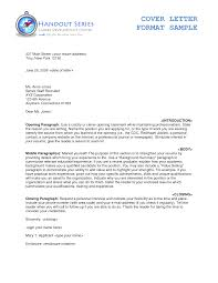 Typical Cover Letter Format by How To Write A Cover Letter The Proper Way Of Writing Your Cover