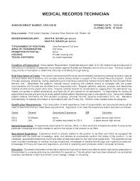 Scanning Clerk Resume Medical Records Clerk Resume Resume Templates