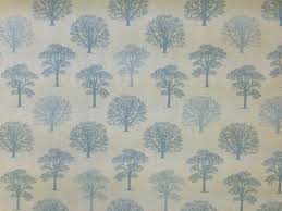 Duck Egg Blue Floral Curtains Marson Trees Duck Egg Textile Express Buy Fabric Online