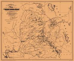 United States Map 1860 by Old Mining Map Washoe Mining Region California 1860
