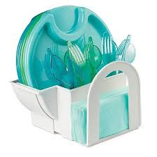 paper plate holders buffet silverware holder the pampered chef
