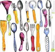 set of kitchen utensil stock vector illustration of cooking