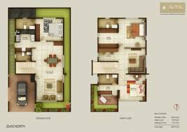 Luxury Duplex House Plans Incredible Floor Plan For North Facing Duplex House 30 50 House
