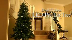 dual colour pre lit led christmas tree youtube