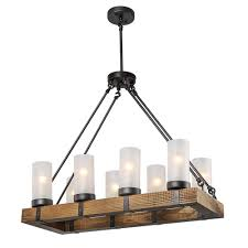 lnc wood chandeliers kitchen island chandelier lighting 8 light