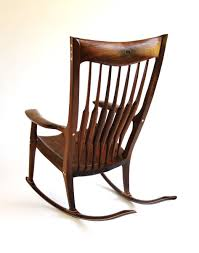 Rocking Chair Makers Hand Crafted Maloof Inspired Rocking Chair By Trident Fine