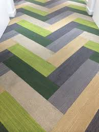 Carpet Tiles by Plank Carpet Tiles In A Herringbone Pattern