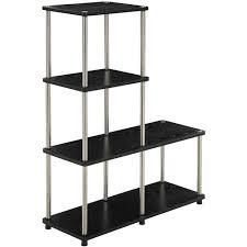 Silver Bookshelf Convenience Concepts Designs2go No Tools Multi Shelf