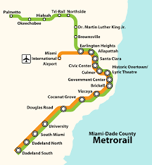 Metro Rail Map by List Of Miami Dade Transit Metro Stations Wikipedia