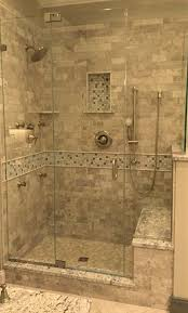 Master Bathroom Shower Ideas Stone Tile Walk In Shower Design Kenwood Kitchens In Columbia