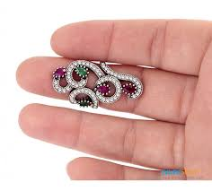 ruby rings designs images Designer ruby and emerald ring gives protection brings good luck jpg
