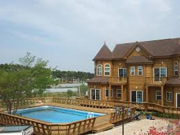 How To Build A Pool House by How To Build A Pool Deck Above Ground Pool Deck Plans Ifmore