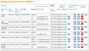 clinical trial report template create and modify report forms crfs openclinica reference