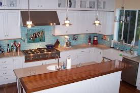 kitchen lighting light blue walls empire copper traditional shell