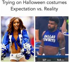Dallas Cowboy Cheerleaders Halloween Costume Halloween Costumes Expectation Reality Dank Memes