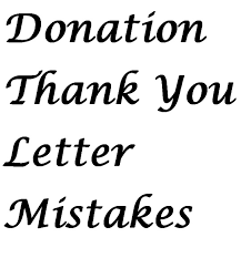 thank you letter mistakes