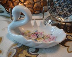 porcelain svan ring holder images Porcelain swan etsy jpg