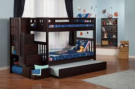 Cheap Twin Bed With Trundle Stair Bunk Beds Atlantic Furniture Columbia Staircase Full Over