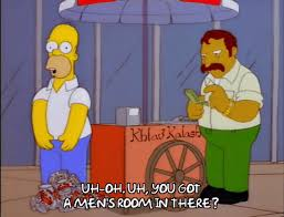 Simpsons Bathroom Hold It In Homer Simpson Gif Find U0026 Share On Giphy
