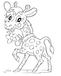 Coloriage girafe mignonne à imprimer et colorier