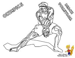 olympic coloring wrestling volleyball sports gekimoe u2022 20473