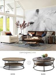 from pottery barn pottery barn bartlett reclaimed wood coffee table copycatchic