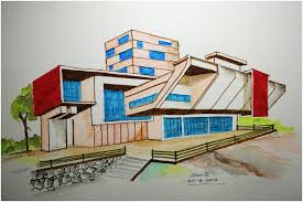 home design drawing architecture modern house design freehand drawing