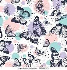 Abstract Pattern Butterfly | vector butterflies pattern abstract seamless background stock vector