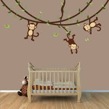 stickers chambres bébé stickers singe chambre bébé stickoo