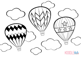 birthday balloon cut out template coloring page free download