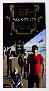 fall out boy from the cork tree 2005 album promo 12x12 poster