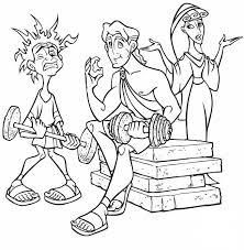 imagenes de zeus para dibujar faciles dibujos y colorear pintar y colorear a hercules y amigos