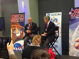 nasa makes orion u0027s first launch a social event lights in the dark