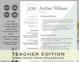 teaching resume etsy