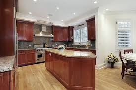 Cherry Espresso Cabinets Kitchens With Cherry Cabinets And Wood Floors Wood Floors