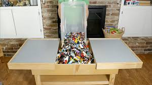 building table with storage how to make a sliding table to store bricks and act as a base