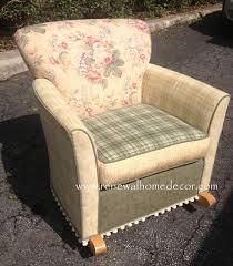 Rocking Chair Gliders Furniture White Upholstered Glider Upholstered Rocking Chair