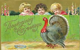 vintage thanksgiving postcards miss celebration