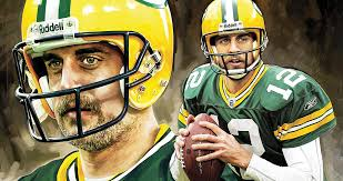 aaron rodgers green bay packers quarterback artwork painting by