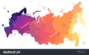 Map Of Italy With Regions by Color Map Russiaall Provinces Regions Stock Vector 384443431