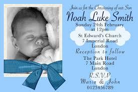 Personalised Christening Invitation Cards 10 Personalised Boys Christening Invitations Personalised Invite