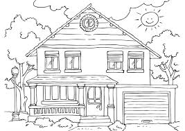 coloring page house coloring pages houses printables murderthestout