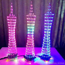 3d diy kits light cube electronic tower colorful led display