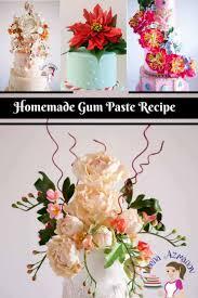 homemade gumpaste recipe for sugar flowers veena azmanov